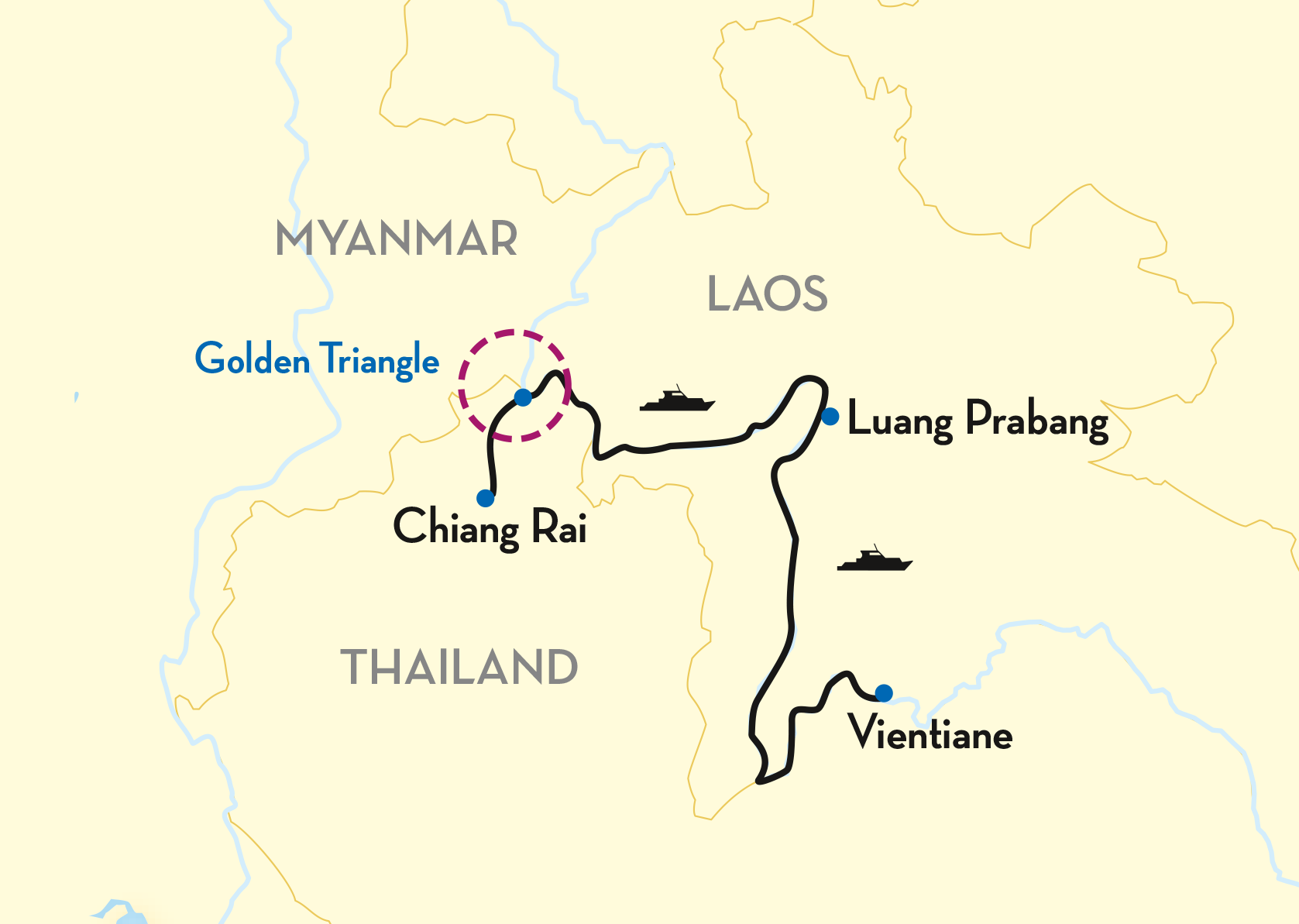The Golden Triangle Map