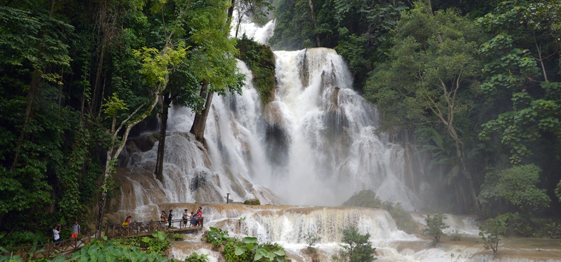 The famous Kuang Si Falls