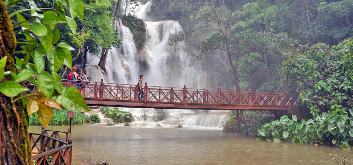 The Kuang Si Falls in Laos